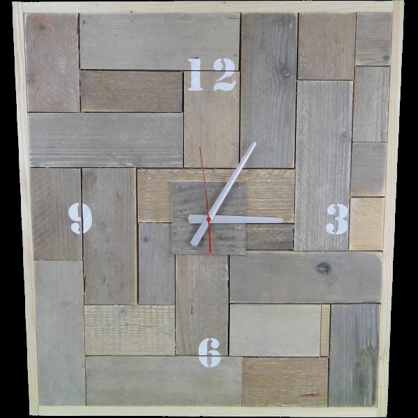 Steigerhouten vierkante klok