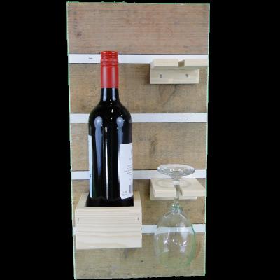 Wandbord voor Wijnfles met glazen