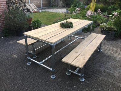 Tuinset-aluminium-steigerhout-Packenzo